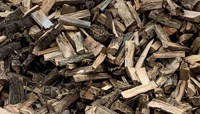 Large pile of dry aged hard wood for sale