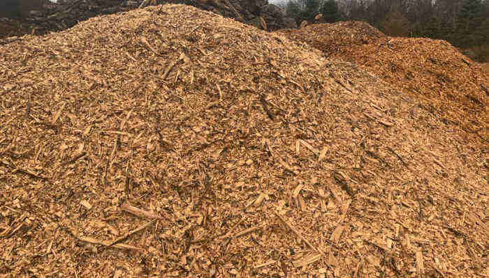 Large Pile of woodchips for sale
